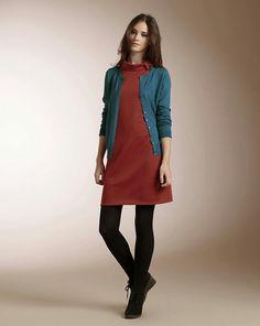 Leggins con vestidos, un look muy casual :)