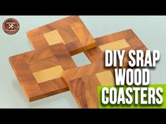 DIY Easy Wood Coasters / Scrap Wood Coasters | Woodworking Projects |  Interio Workshop - YouTube