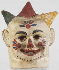 Early 20th Century Clown Mask