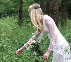 Bohemian Wedding Dress 'Clover' by Laurel & Lace