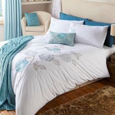 Super King Peony Duck Egg Blue White Duvet Cover Set and Pillowcase , http://www.amazon.co.uk/dp/B007G9O8ZQ/ref=cm_sw_r_pi_dp_WSh0sb1S4FPBF