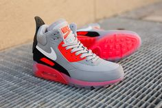 premium selection 531fc 0e874 Nike Air Max 90 Ice Sneakerboot in Wolf Grey Infrared