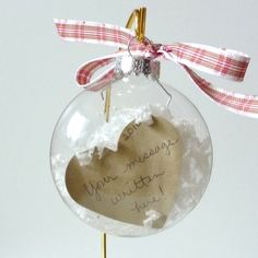 DIY Personalized Sweet Note Glass Holiday by SentimentsShoppe