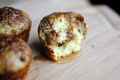 Cinnamon & Sugar Swirled Pancake Muffins. (I can't stop pinning from this site -- she's amazing!)
