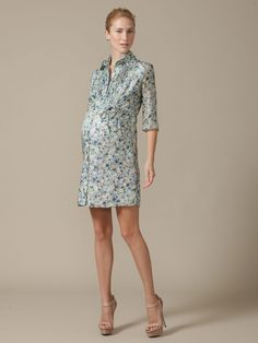 Floral Shirtdress by Rosie Pope - #pregnant outfit