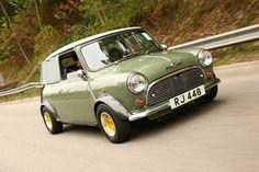 "a cool wee car - I remember those funny back windows ""zoom zoom original"" Mini Cooper Classic, Classic Mini, Classic Cars, Mini Clubman, Mini Countryman, Mini Morris, Mini Cooler, Mini Rolls, Cooper Car"