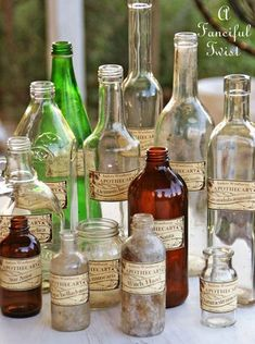 Apothecary spell potion labels // A Fanciful Twist