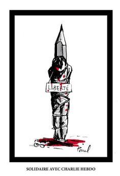 Hervé Pinel, dessinateur régulier au JDD, rend hommage à ses collègues de #CharlieHebdo