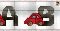 Monograma Carrinhos  Clica nas imagens para salvar e ver em tamanho maior.