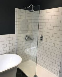 Metro Flat White Matt Wall Tiles - Tons of Tiles Small Shower Room, Small Showers, Loft Bathroom, Small Bathroom, Bathrooms, Airing Cupboard, Kitchen Pictures, Kitchen Pics, Led Manufacturers