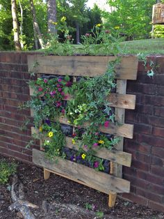 My vertical pallet garden inspired by Life on the Balcony.