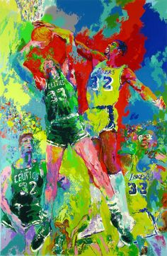 Image detail for -Leroy Neiman - Leroy Neiman Magic Johnson Painting