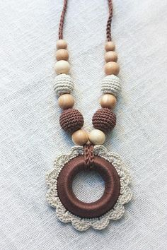 Makin baby stuff crochetMakin baby stuff crochetFloral Nursing necklace Crochet Flower Pendant Wooden Teething Ring New Mom Brea .Floral Nursing necklace Crochet Flower Pendant Wooden Teething Ring New Mom Breastfeeding Jewelry Baby Shower Gift Teether Crochet Bracelet, Bead Crochet, Crochet Earrings, Beaded Necklace, Collar Necklace, Bijoux Shabby Chic, Jewelry Crafts, Handmade Jewelry, Ring Crafts