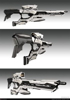 sci-fi concept weapon by gurmukh bhasin | 3D | CGSociety #gun #rifle                                                                                                                                                                                 More