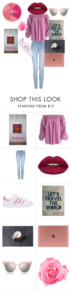 """""""Let's travel..."""" by mariellascode ❤ liked on Polyvore featuring Chicwish, Huda Beauty, adidas Originals, Trademark Fine Art and Fendi"""