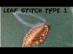 Leaf filling in aari type 1 - YouTube