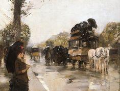 April Showers Champs Elysees Paris    Frederick Childe Hassam