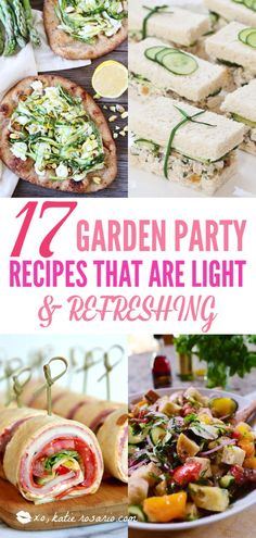 17 Garden Party Recipes That Are Light and Refreshing &; XO Katie Rosario 17 Garden Party Recipes That Are Light and Refreshing &; Easy Party Food, Party Snacks, Appetizers For Party, Party Recipes, Appetizer Recipes, Party Drinks, Cold Party Food, Dinner Recipes, Lunch Ideas For Guests