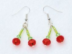 My juicy cherry earrings... So hard to sell, I really want to wear them myself :)