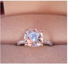 I LOVE this. I've always wanted a pink diamond ring. This is gorgeous! #ring #pink #diamond