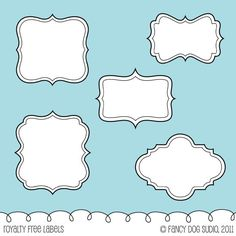 Digital Labels and Frames  Scrapbooking Download by FancyDogStudio, $3.50