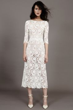 Florence Allover Dress - The classic, elegant and figure- accentuating midi dress  shape combined with the sophisticated Florence lace gives this dress its eclectic, classy look. The bateau neck adds to the fineness of the Florence Midi Dress.