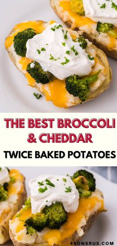 Cheese & broccoli are a classic combination that make any dish just a bit more magical. Take your baked potatoes to the next level by turning them into broccoli & cheddar twice baked potatoes. Quick and easy, this meatless meal is a family favorite that's perfect to serve for lunch or dinner. #sidedish #siderecipe #potatoes