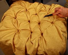 Tufting tutorial.....this is really fun to do, especially for a foot rest or headboard