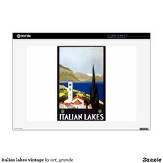 italian lakes vintage decal for laptop