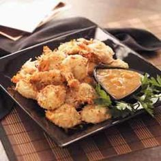Coconut Shrimp with Dipping Sauce - So crunchy and healthier than fried. The dipping sauce is so good!