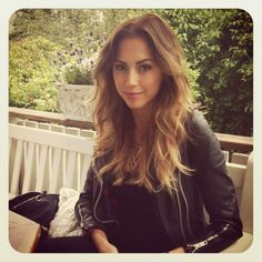 Kenza Zouiten. Cute jacket, hair, everything.