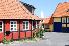 Fachwerkhäuser in Gudhjem auf der Insel Bornholm #fachwerkhaus #gudhjem #bornholm