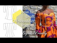 HOW TO DRAFT OFF-SHOULDER BODICE PATTERN | REQUEST WEDNESDAY #4 | KIM DAVE - YouTube