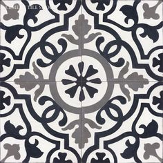 Cement Tile Shop - Encaustic Cement Tile Amalia Black