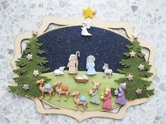 Easy Christmas Ornaments, Simple Christmas, Christmas Diy, Christmas Decorations, Xmas, Three Wise Men, O Holy Night, Nativity Crafts, Holi