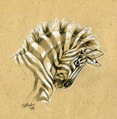 Brown Paper Zebra Sketch by Hbruton on deviantART Zebra Drawing, Zebra Painting, Zebra Art, Paper Drawing, Paper Art, Africa Painting, Animal Sketches, Art Drawings Sketches, Animal Drawings