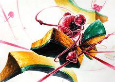 기초디자인 - 방울머리끈+수세미 : 4시간 시험작 Drawings, Handmade, Painting, Design, Hand Made, Painting Art, Sketches, Craft, Paintings