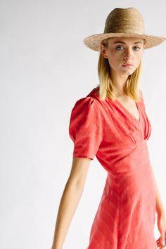THE LENNOX DRESS - RED STRIPE