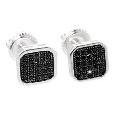Sterling Silver Stud Earrings Cubic Zirconia Screwback 8mm Black Rounded Square If you are looking for a great selection of mens earrings- at very affordable prices check out www.jewelryland.com. If you like these high quality men's earrings please feel free to re-pin, like or leave a comment. Screw Back Earrings, Sterling Silver Earrings Studs, Fashion Jewelry, Diy Jewelry, Men's Fashion, Jewellery, Women's Earrings, Cufflinks, Jewelry Watches