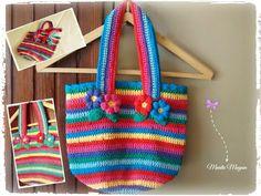 Bolso Primaveral ✿⊱╮ Crochet bag