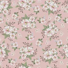 Papel de Parede Autocolante Floral Rosa 175558820