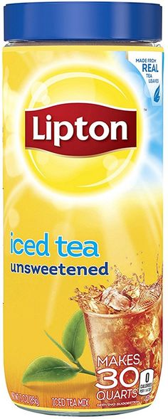 Lipton Black Iced Tea Mix Unsweetened 30 qt (Pack of 2) ** Want additional info? Click on the image. (This is an affiliate link) #IcedTea