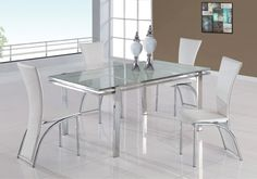 Dining Room Ideas. Innovative Futuristic Dining Room Design Ideas. Elegant Futuristic Dining Room White Crackled Glass Dining Table Set with Chromed Legs and Edges plus White Modern Brushed Chrome Legs Dining Chairs. Futuristic White Dining Table Set. Futuristic Crackled Glass Dining Tables. Futuristic Dining Table Set. Futuristic Dining Room Designs. Futuristic White Dining Chairs. Modern Dining Furniture Ideas. Futuristic Furniture Set. Dining Room Design Ideas. Modern Dining Room Design…
