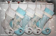 soft blues, Christmas stockings