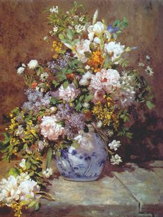 Spring Bouquet - Pierre Auguste Renoir                                                                                                                                                                                 Mais