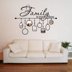 Shop Family Picture Frame Deco Vinyl Wall Art - Overstock - 10391280 - Black - 59 inches x 44 inches Photo Wall Decor, Family Wall Decor, Family Tree Wall, Decoration Creche, Wall Decorations, Birthday Decorations, Family Picture Frames, Family Pictures On Wall, Wall Painting Decor