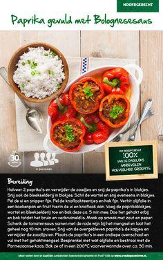 Recept voor paprika gevuld met Bolognesesaus #Lidl