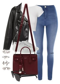"""""""Sin título #13745"""" by vany-alvarado ❤ liked on Polyvore featuring Jane Norman, Helmut Lang, H&M, Yves Saint Laurent and NLY Trend"""