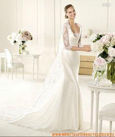 Wunderschöne Brautkleider aus Satin A-Linie mit Spitze rückenfrei 2013