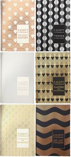 F. Scott Fitzgerald's hardcover backlist, designed by Coralie Bickford-Smith (yes, the same designer as the gorgeous clothbound classics series that was on everyone's Christmas list in 2009), published by Penguin Hardback Classics, 2011.